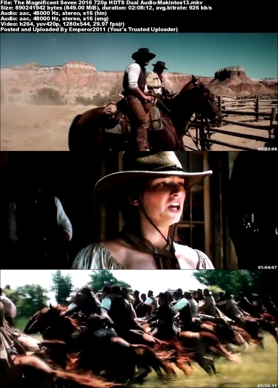 The Magnificent Seven (2016) 720p HDTS x264 Dual Audio-Makintos13