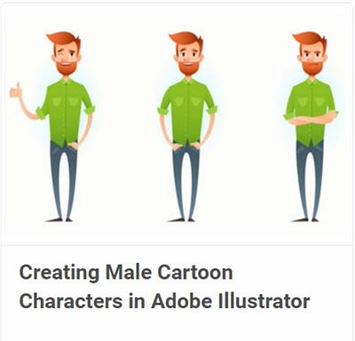 Creating Male Cartoon Characters in Adobe Illustrator