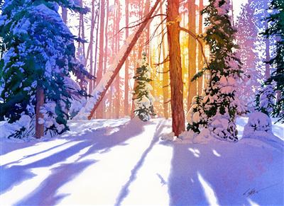 Painting Wild Places with Watercolors: Learn To Paint Winter's Light
