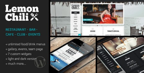 Nulled LemonChili v2.02 - a Premium Restaurant WordPress Theme visual