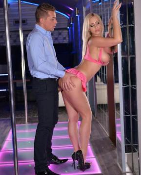 Nathaly Cherie - One On One - Blonde Dancer Ass Fucked At The Strip Club (2016) HD 720p