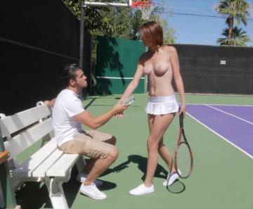 Cece Capella - Teen Tennis Lesson (2016) FullHD 1080p