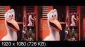 Аисты 3D / Storks 3D Горизонтальная анаморфная стереопара